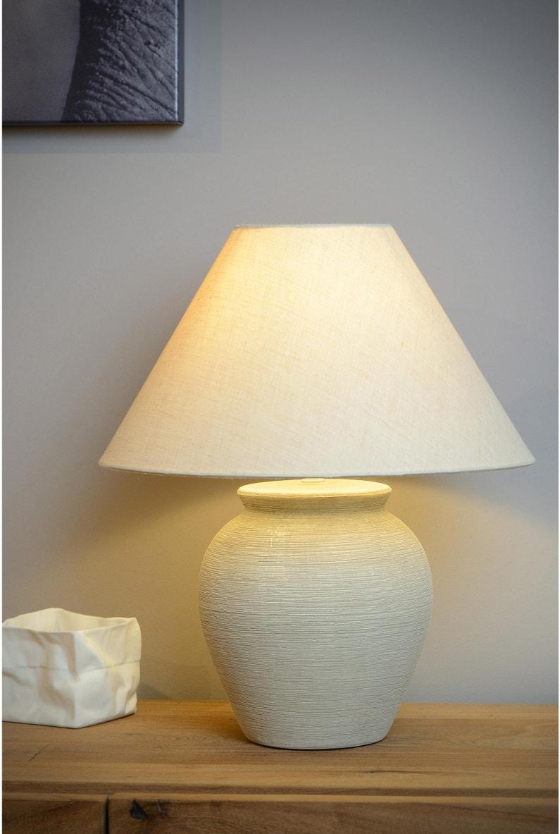 Faire Une Lampe De Chevet Soi Meme lampe, céramique crème, lucide ramzi