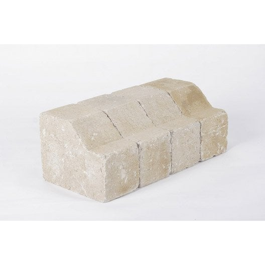 Bordure droite tarnis b ton jaune x cm leroy merlin - Balustre beton point p ...