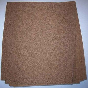 Lot de 5 feuilles abrasives 3M, 280 x 230 mm grains 80