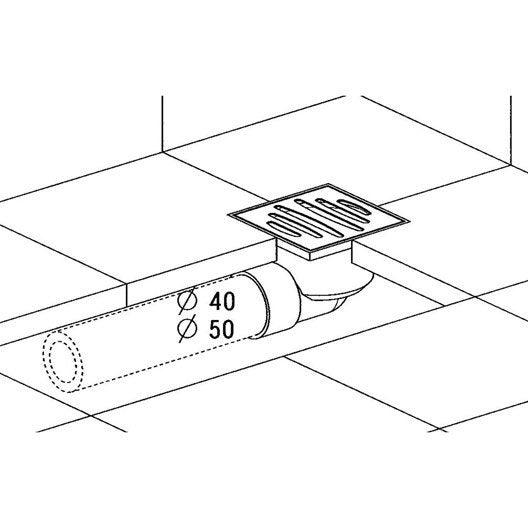 siphon de sol douche l 39 italienne x cm sas. Black Bedroom Furniture Sets. Home Design Ideas