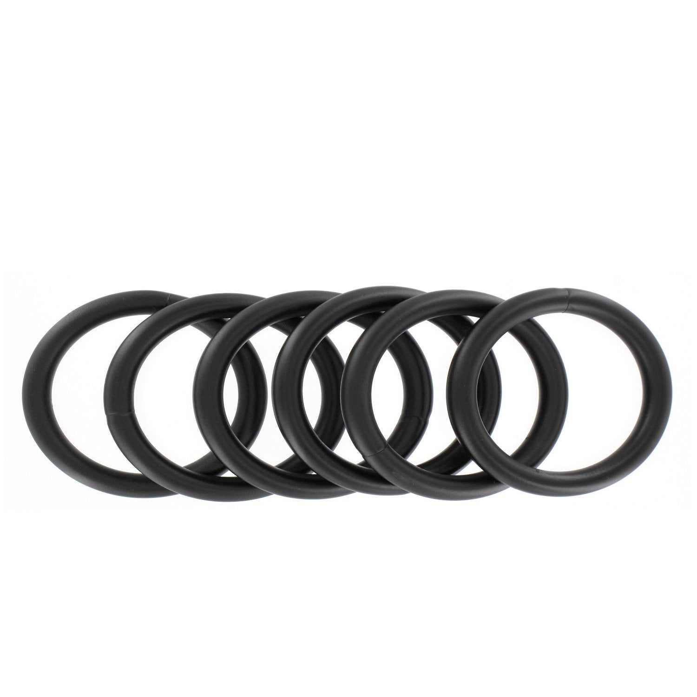 Anneaux tringle rideau mat 25 mm acier noir ib leroy merlin - Tringle a rideau cable acier ...