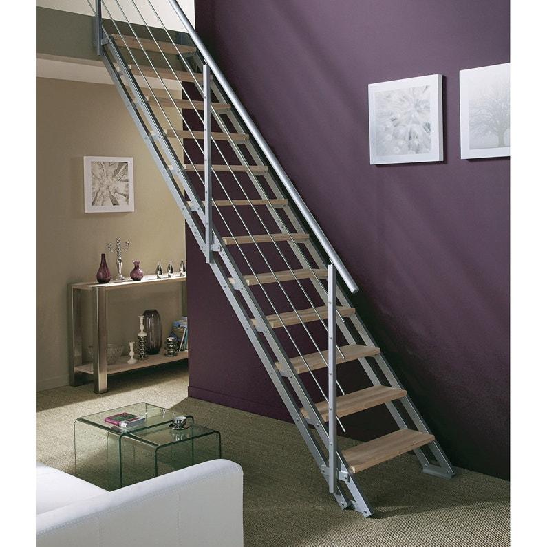 Escalier Modulaire Escavario Structure Metal Marche Bois Leroy Merlin