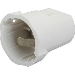 Lot de 20 douilles électriques automatique B22 nylon, blanc