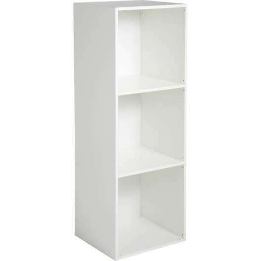 etag re 3 cases multikaz blanc x x cm leroy merlin. Black Bedroom Furniture Sets. Home Design Ideas