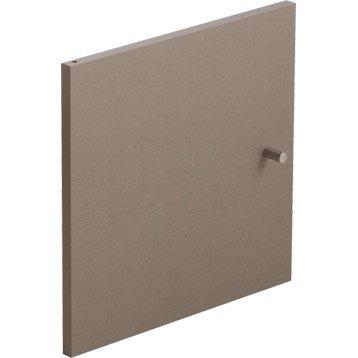 Porte MULTIKAZ, taupe H.32.2 x l.32.2 x P.1.5 cm