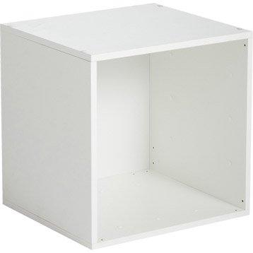 Etagère 1 case MULTIKAZ, blanc H.35.2 x l.35.2 x P.31.7 cm