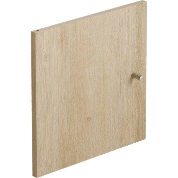 Porte MULTIKAZ, effet chêne H.32.2 x l.32.2 x P.1.5 cm