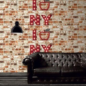 Papier peint papier I apple new york rouge