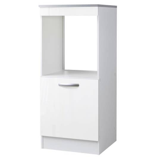 meuble de cuisine 1 2 colonne 1 porte blanc brillant l60x p60cm leroy merlin. Black Bedroom Furniture Sets. Home Design Ideas