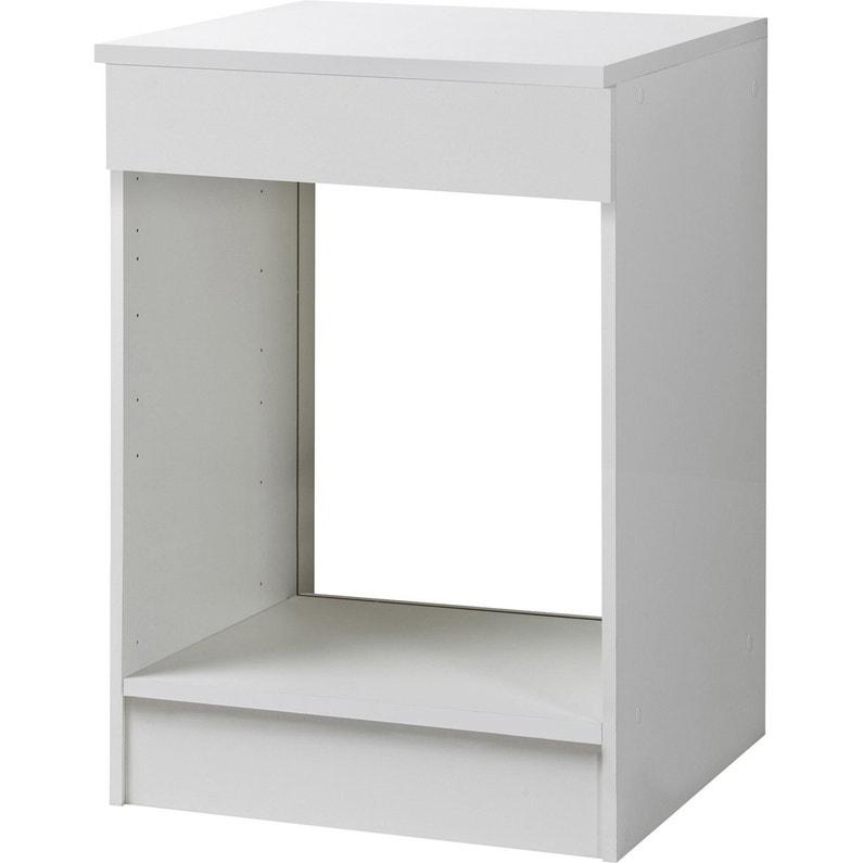 Meuble de cuisine bas four, blanc, h86x l60x p60cm   Leroy Merlin d35090d22d40