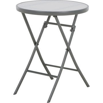 Table de jardin aluminium bois r sine leroy merlin for Table exterieur carrefour