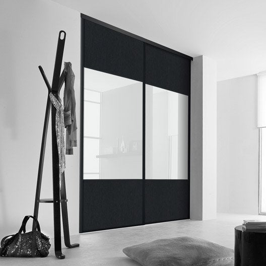 porte de placard coulissante sur mesure kazed karacter 2. Black Bedroom Furniture Sets. Home Design Ideas