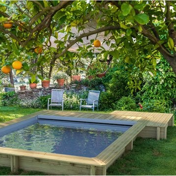 Piscine piscine hors sol gonflable tubulaire leroy merlin for Piscine semi enterree en bois leroy merlin