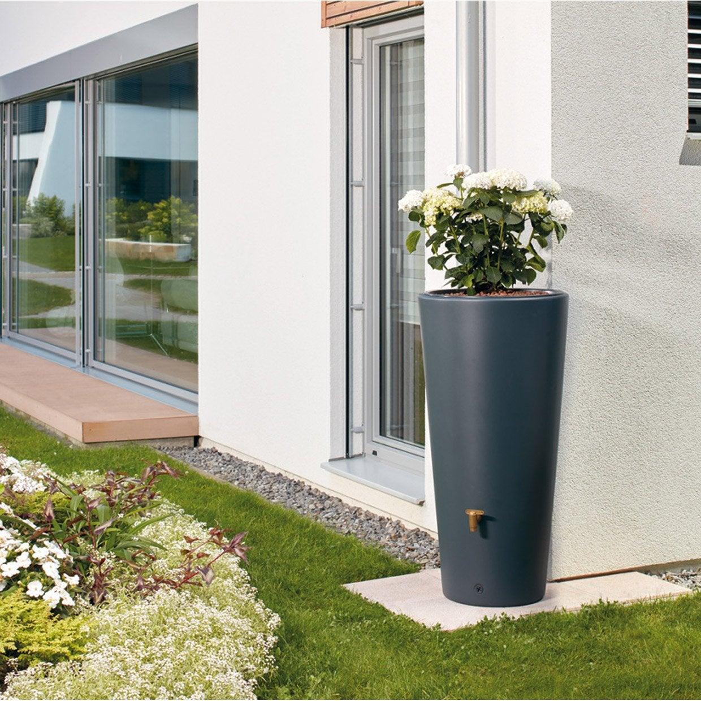 r cup rateur d 39 eau a rien cylindrique graphite 210 l leroy merlin. Black Bedroom Furniture Sets. Home Design Ideas