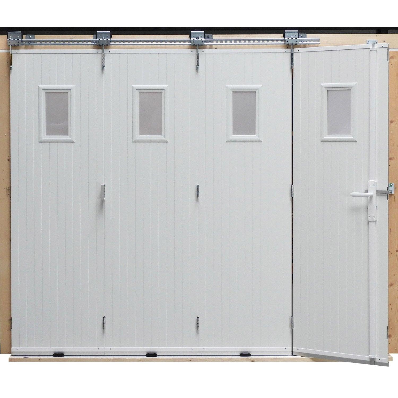 Agreable Porte De Garage Coulissante Manuelle ARTENS H.200 X L.240 Cm Avec Hublot