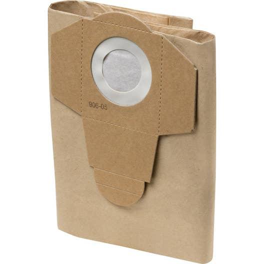lot de 4 sacs papier pour aspirateur practyl 15 leroy merlin. Black Bedroom Furniture Sets. Home Design Ideas