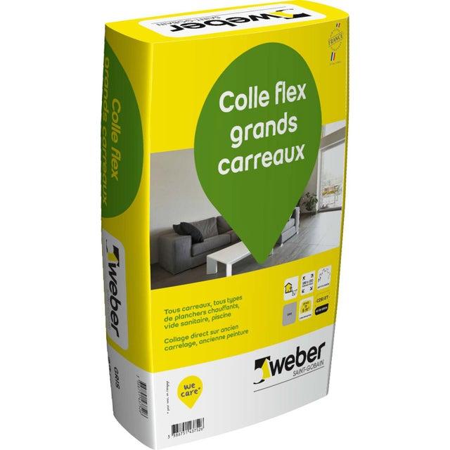 Mortier Colle Flex Grands Carreaux Gris Weber 25 Kg