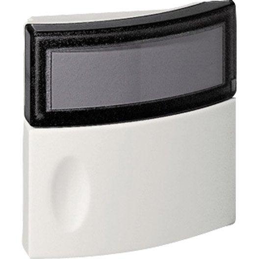 Bouton de sonnette filaire legrand 94247 blanc leroy merlin for Sonnette exterieur