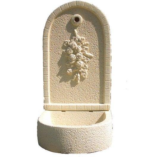 Fontaine de jardin en pierre reconstitu e ton pierre for Evier exterieur en pierre