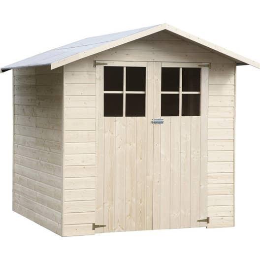 abri de jardin bois timmins m mm leroy merlin. Black Bedroom Furniture Sets. Home Design Ideas