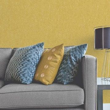 Papier peint intissé Ecorce vegetal moutarde