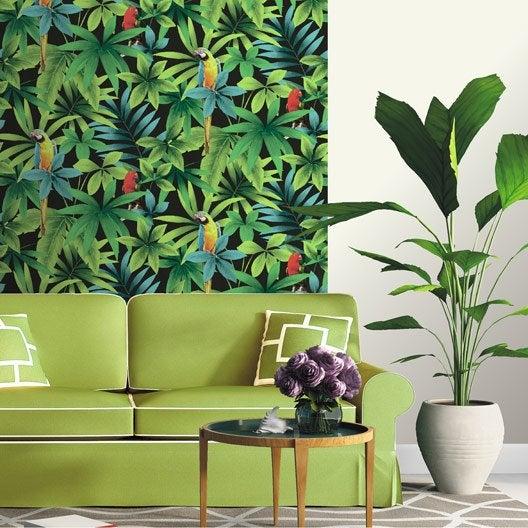 Papier peint papier Perroquet vert