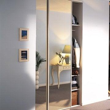 Lot de 2 portes de placard coulissante l.120 x H.250 cm