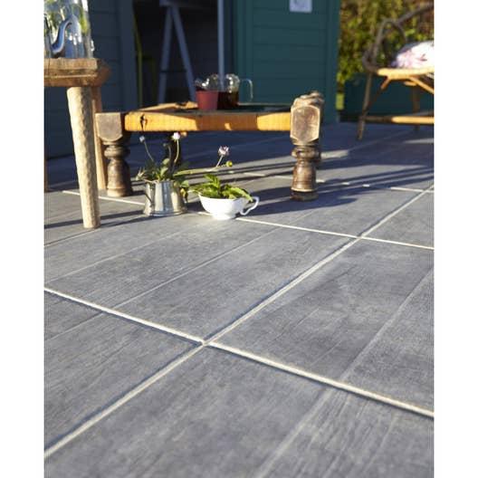 Carrelage sol anthracite effet bois River l.45 x L.45 cm | Leroy Merlin