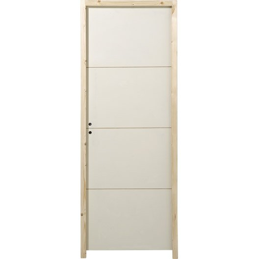 Bloc porte acoustique milan x cm leroy merlin for Porte interieur 63 cm