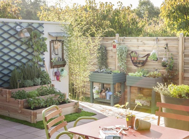 Un carr de potager en hauteur dans votre jardin leroy - Jardin potager en hauteur ...