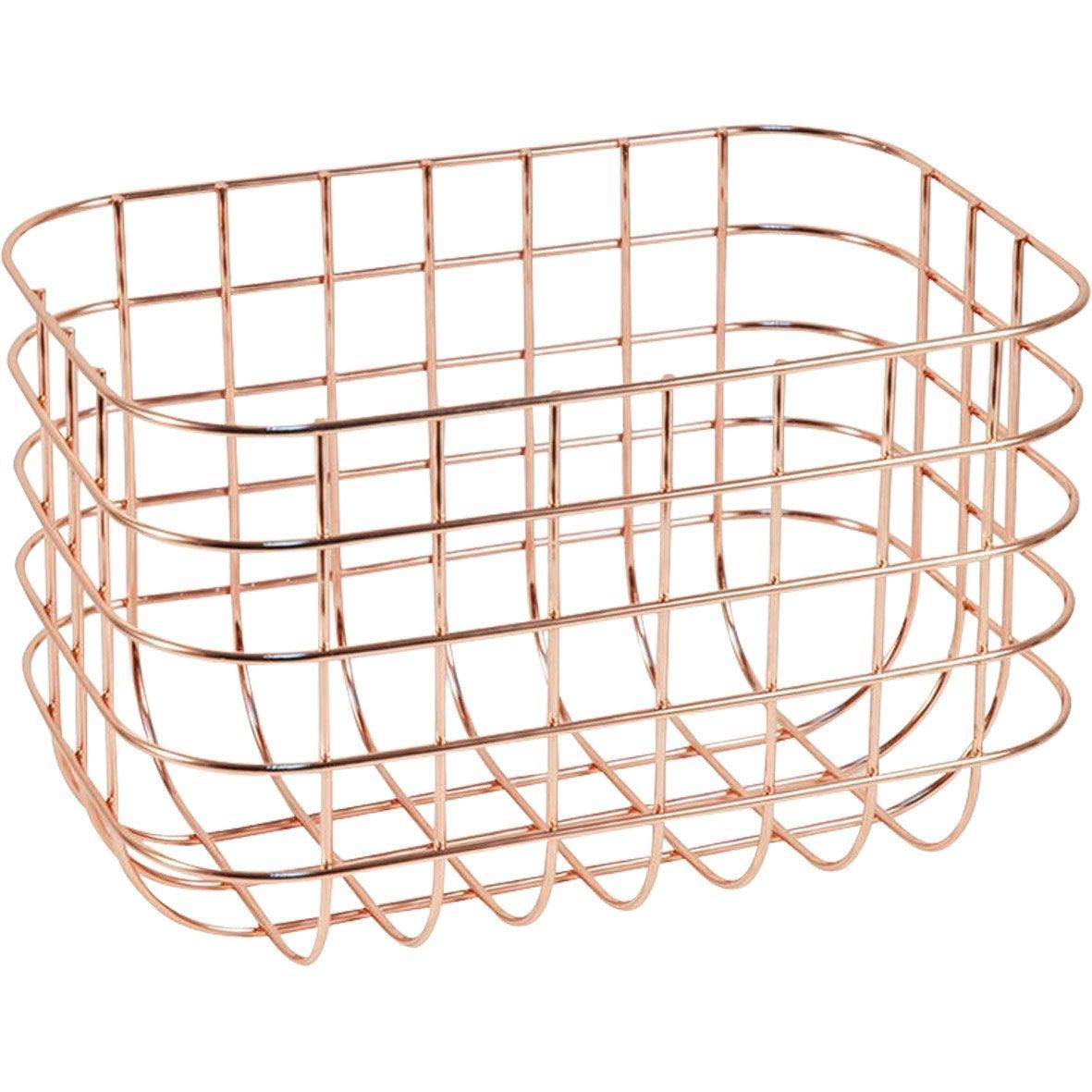 Boîte de rangement nomade en métal cuivre, Copper