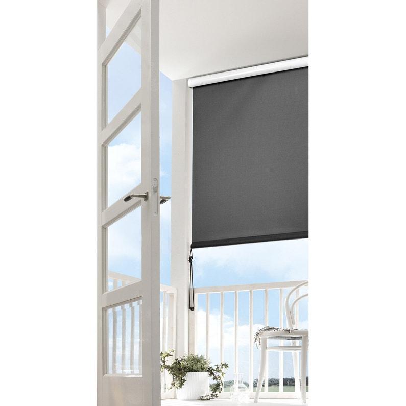 Store De Balcon Manuel Semi Coffre 1 5 X 2 M Gris