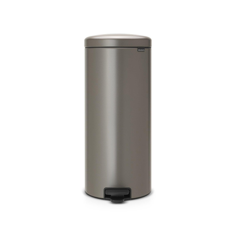 poubelle de cuisine p dale brabantia poxy platinum 30 l leroy merlin. Black Bedroom Furniture Sets. Home Design Ideas