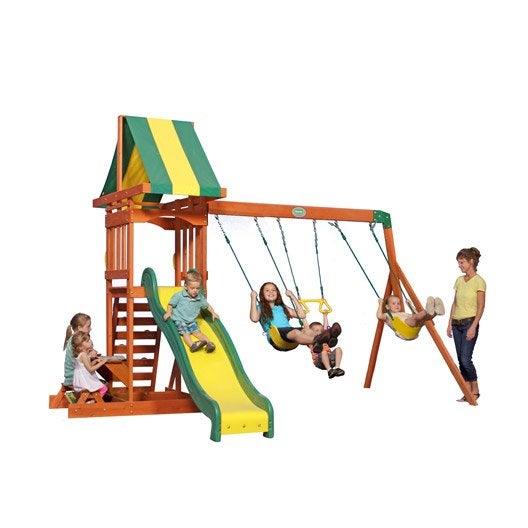 balan oire portique aire de jeux enfants au meilleur. Black Bedroom Furniture Sets. Home Design Ideas