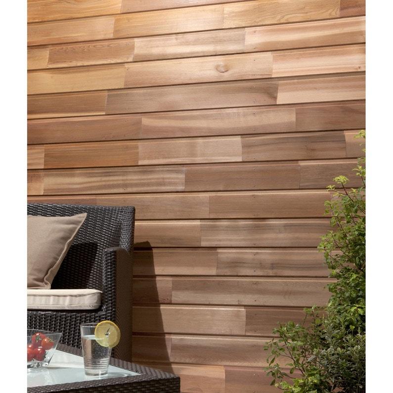 clin pour bardage red cedar naturel isb elan m leroy merlin. Black Bedroom Furniture Sets. Home Design Ideas