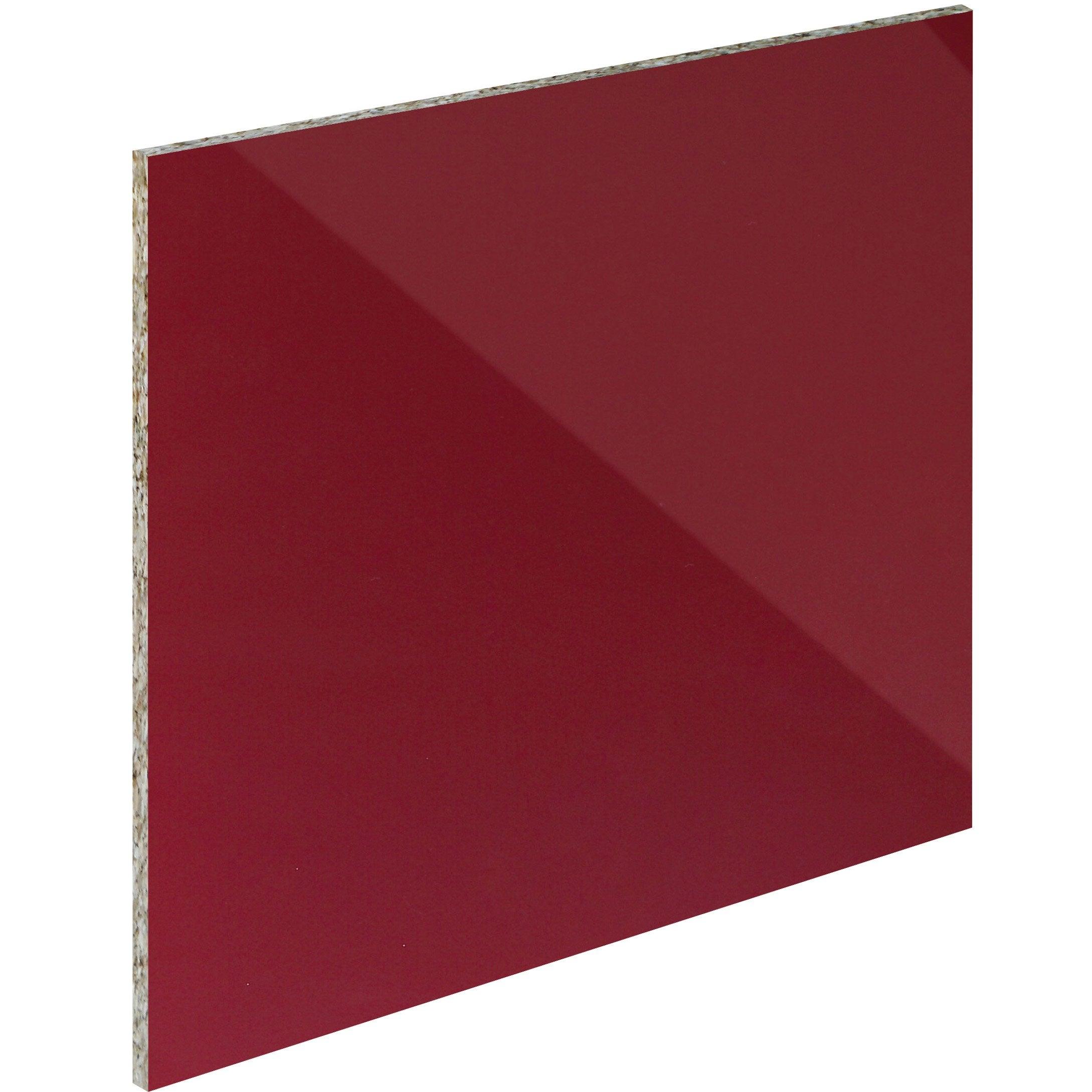 Crédence verre trempé Rouge mat délice H.45 cm x Ep.5 mm x L.60 cm