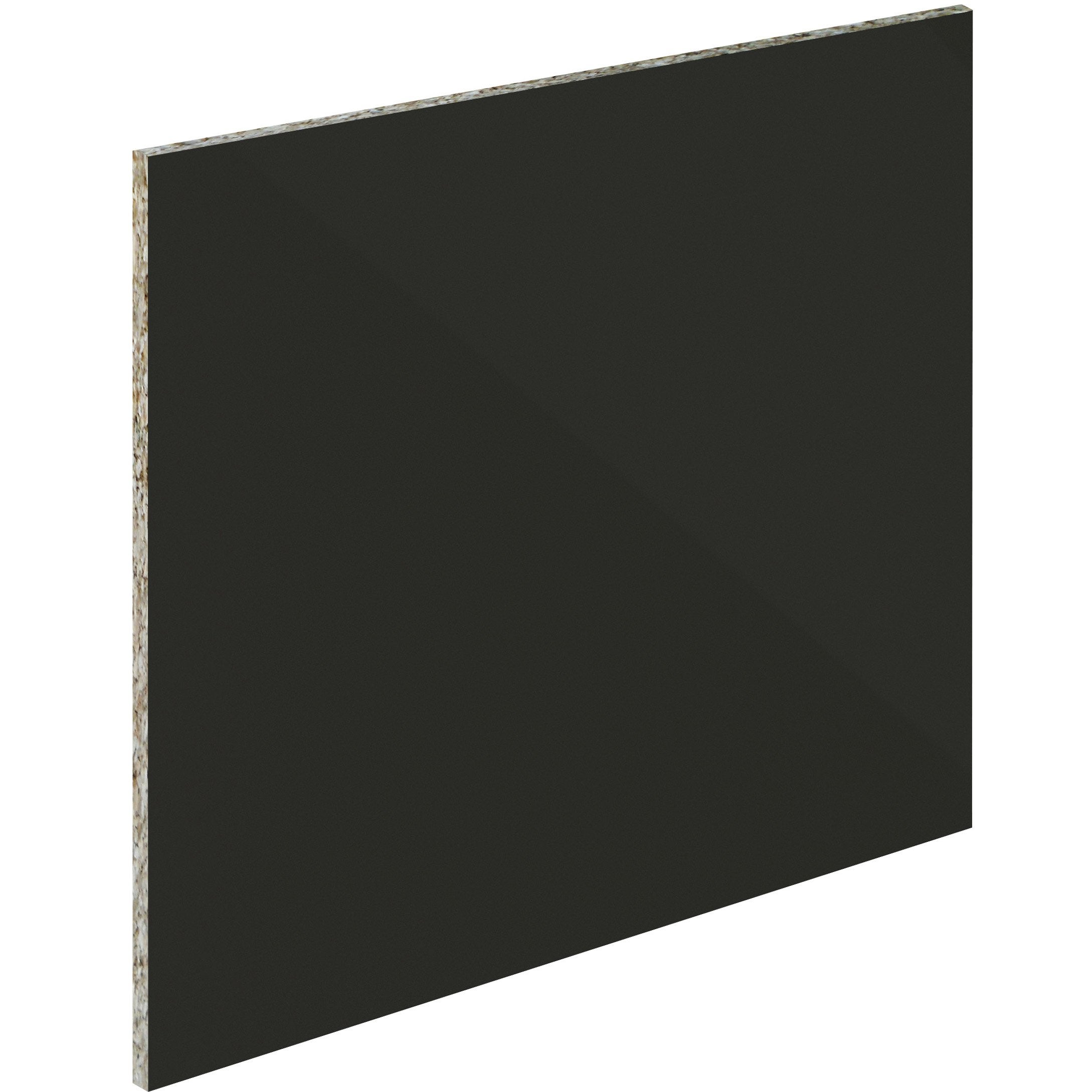 Crédence verre Noir mat délice H.45 cm x L.60 cm