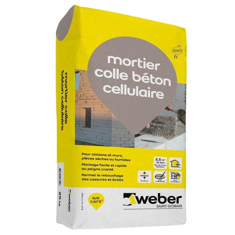 Mortier Colle Béton Cellulaire Weber 25 Kg