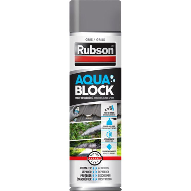 Revêtement D étanchéité Rubson Aquablock Gris Spray 0 3l