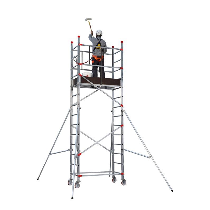Echafaudage Aluminium Fast Lock Pro Hailo Hauteur De Travail 5 M