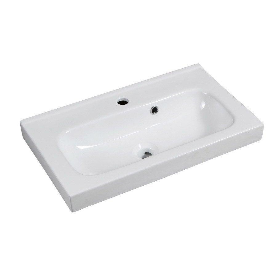 Plan vasque simple céramique l.61 x P.35 cm