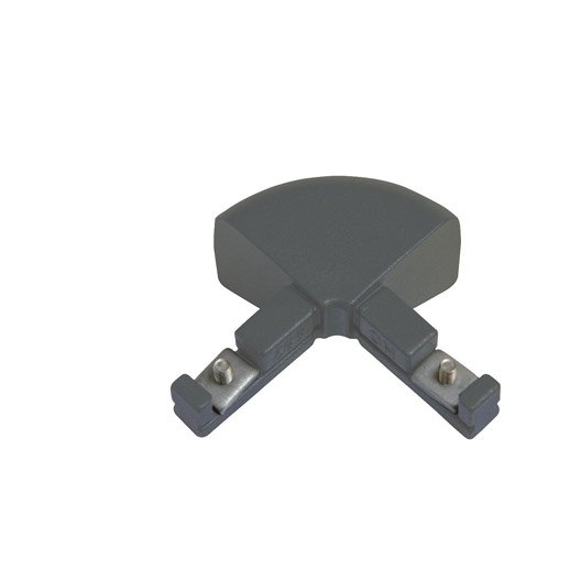 Raccord pour échelle KITAL aluminium gris H.15 x l.10 cm