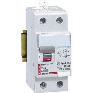Interrupteur différentiel LEGRAND, 30 mA 63 A A