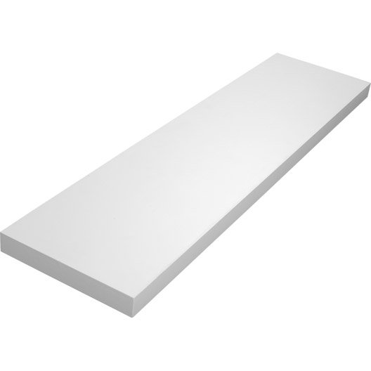 Tablette d corative classic spaceo en m lamin blanc for Tablette prepercee en melamine