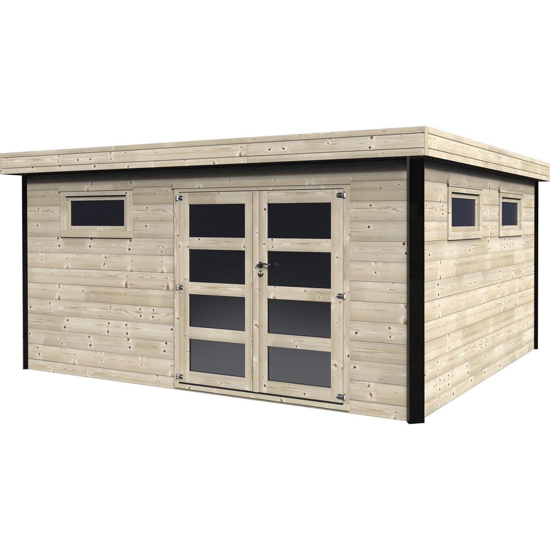 abri de jardin avec bucher leroy merlin Abri de jardin bois Elite Ep.28 mm, 16.86 m²