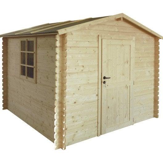 abri de jardin bois hokki, 5.02 m² ep.28 mm | leroy merlin