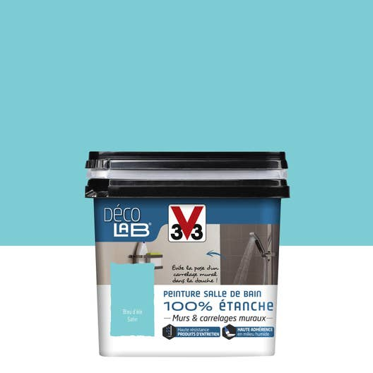 peinture d colab 100 tanche v33 bleu d 39 t l. Black Bedroom Furniture Sets. Home Design Ideas