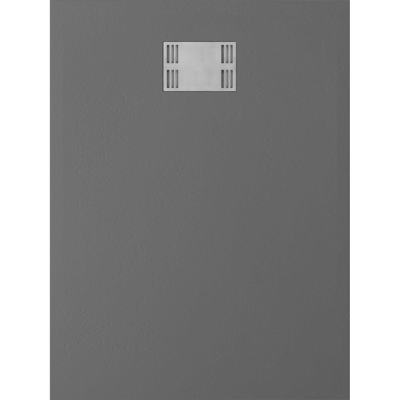 receveur de douche rectangulaire x cm r sine gris slate leroy merlin. Black Bedroom Furniture Sets. Home Design Ideas