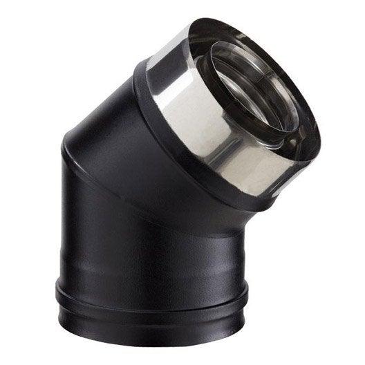 coude pour conduit double paroi poujoulat d80 mm 45 leroy merlin. Black Bedroom Furniture Sets. Home Design Ideas