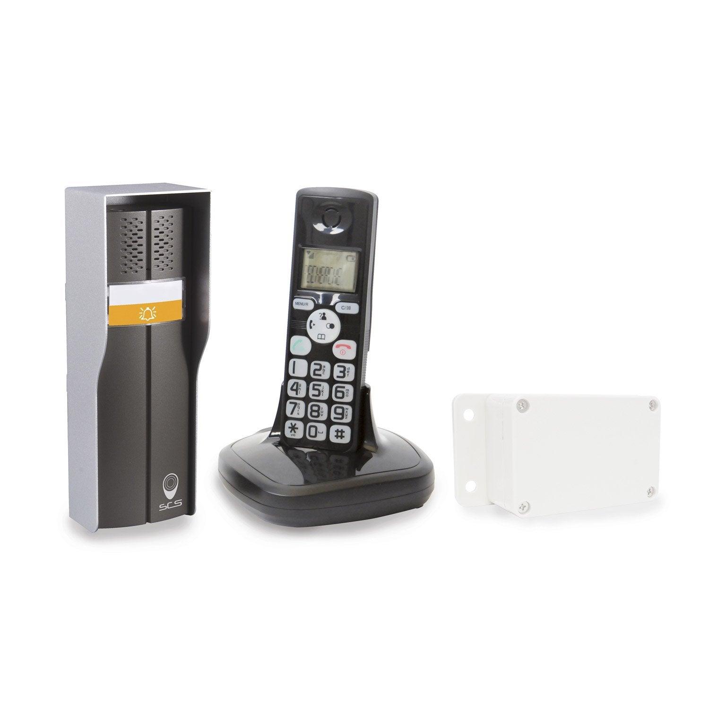 Interphone sans fil scs sentinel duophone 150 leroy merlin for Interphone sans fil interieur maison